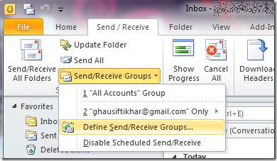 Outlook 2010 работает медленно?  Загрузить только заголовок электронного письма