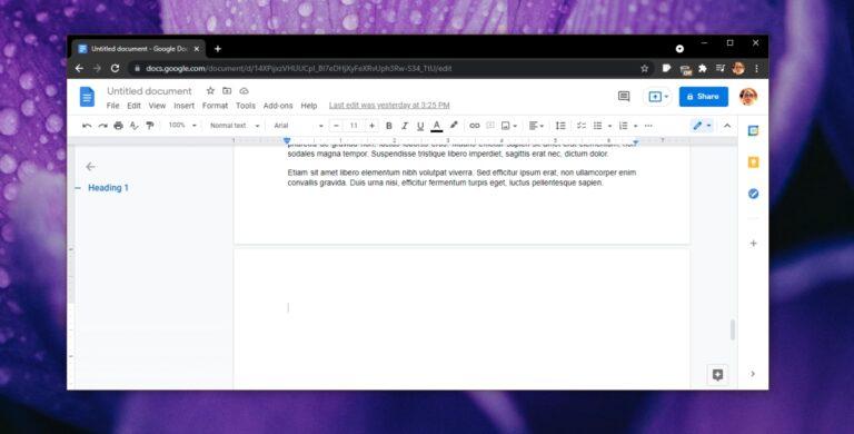 Как удалить пустую страницу в Google Документах