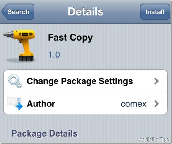 Как удалить задержку копирования / вставки всплывающего окна на iDevices с помощью Fast Copy