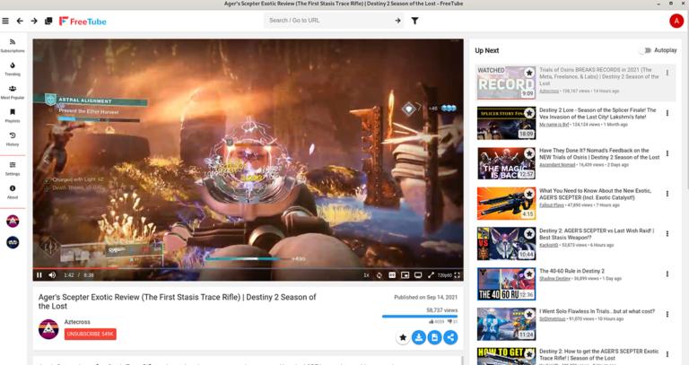 Как смотреть YouTube на рабочем столе Linux с FreeTube