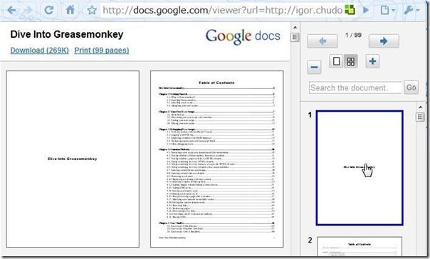 Открытие ссылок PDF с помощью Документов Google