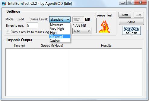 Запишите свой процессор Intel Core 2 Duo / Core 2 Quad с помощью IntelBurnTest =