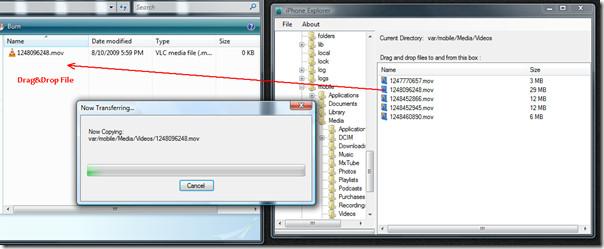 Браузер / проводник файлов iPhone быстро передает файлы на / с iPhone