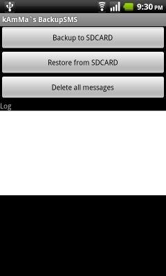 BackupSMS для Android позволяет создавать резервные копии и восстанавливать SMS-сообщения