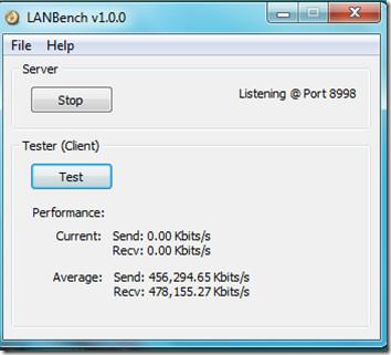 LAN Bench — Утилита LAN Benchmark