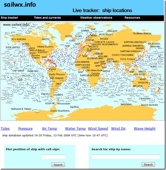 Как отслеживать точное положение / местоположение любого корабля с помощью Sailwx
