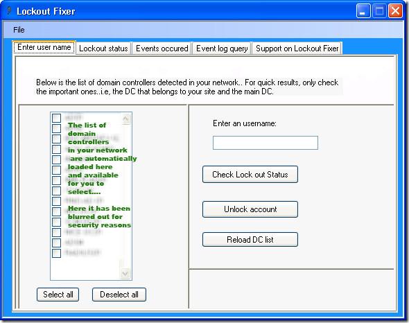 Разблокируйте свои заблокированные учетные записи домена с помощью Lockout Fixer