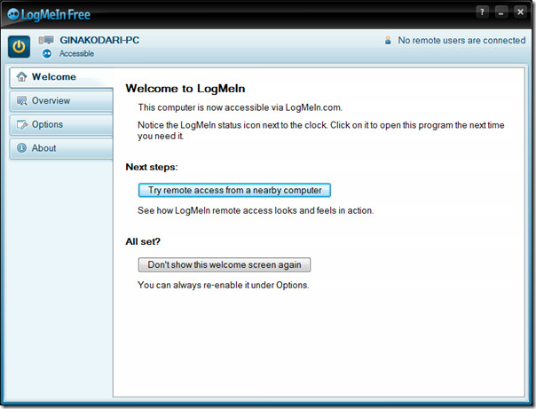 Удаленное управление рабочим столом Windows 7