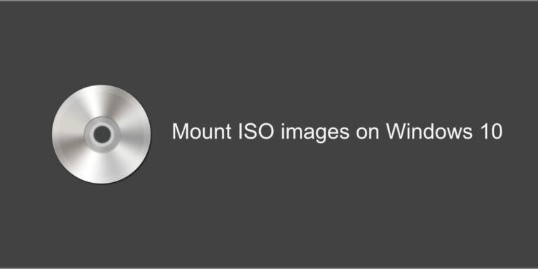 Как смонтировать ISO-образы в Windows 10