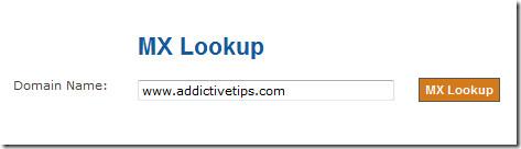 Проверьте записи MX для своего домена с помощью инструмента поиска MX