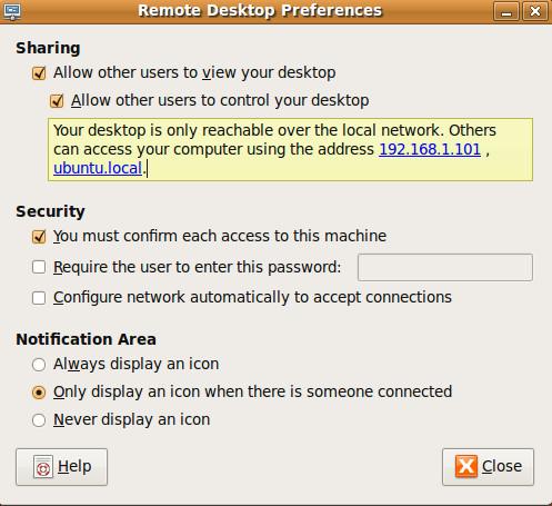 Включить удаленный вход в Ubuntu