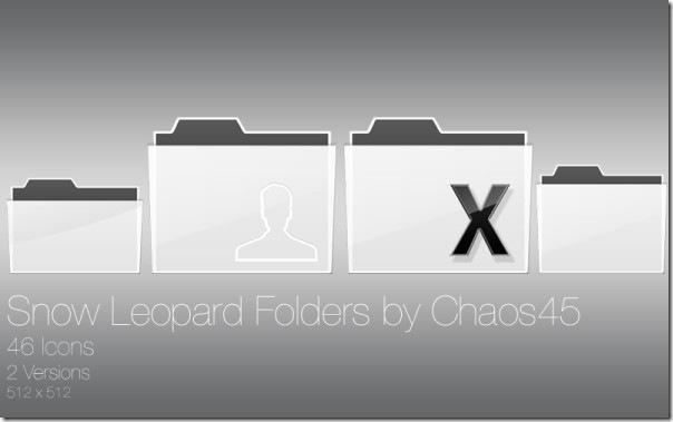 Скачать папки темы Snow Leopard для Mac OS X