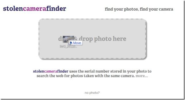 Поиск украденной камеры ищет вашу потерянную цифровую камеру