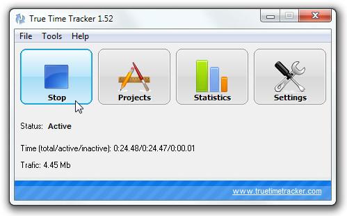 True Time Tracker отслеживает время проекта для расчета эффективности работы