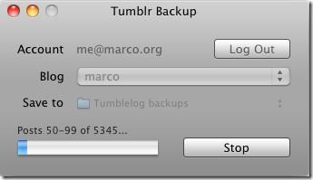 Резервное копирование блога Tumblr [Mac]
