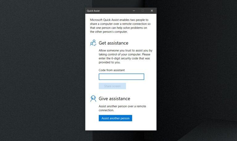 Как настроить и использовать инструмент Windows 10 Quick Assist