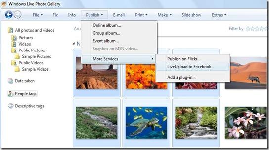 Загружайте изображения в Facebook напрямую через Windows Live Gallery